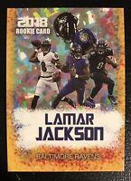 2018 Lamar Jackson Gold Rookie Gems Rookie Card Arizona Cardinals Mint Condition