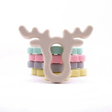 Antlers Pendant Necklace Baby Teething Nursing Chew Soft Silicone Teether Toy S