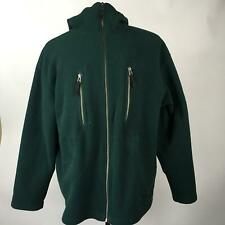 Tommy Hilfiger Green Sweaters Jacket Polyester Hoodie Full Zip LS Mens Size L