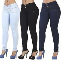 Women Pencil Stretch Casual Denim Skinny Jeans Pants High Waist Jeans Trousers