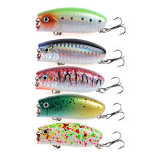 5pcs/lots Fat Popper Fishing lures Topwater Fishing Baits 5.5cm Wobblers 10.4g