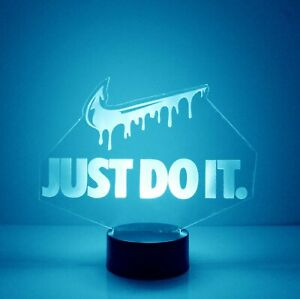 Nike Just Do It, Personalized LED Night Light Lamp, w/ Remote Control, Nike Lamp