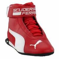Puma R-Cat Mid x Scuderia Ferrari Lace Up Sneakers  Casual   Sneakers Red Mens -