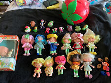 Lot 12 Vintage Strawberry Shortcake Dolls With Strawberry Carrying Case