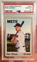 2019 Topps Heritage PETE ALONSO Rookie RC #519 PSA 10 GEM MINT | New York Mets