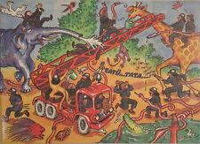 DDR Original Annaberger Puzzle, Feuerwehrübung im Zoo, 300 Teile, OVP RAR!