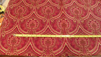 Brick Beige Victorian Print Upholstery Fabric Remnant  F1163