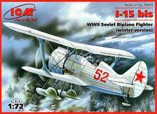 POLIKARPOV I 15 BIS con Sci-WW II SOVIET FIGHTER (Inverno AF MARCATURE) 1/72 ICM