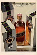 1965 Johnnie Walker black Label Scotch Whisky  PRINT AD