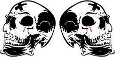 Bloody Skull Stickers/Decals Car Motorbike Helmet Van