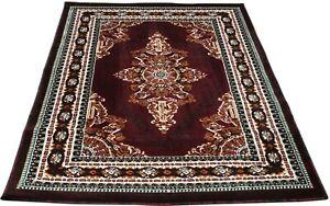 "4x6 Area Rug Burgundy Floral Carpet Floor Covering Mat Home Decor (3'11"" x 5'2"")"