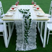 White Lace Table Runner Tablecloth Home Wedding Party Banquet Decor Chair Sash