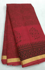 Women's Ethnic Wear Kota Doria Cotton Printed Sarees With Running Blouse