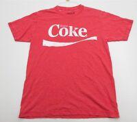 COCA-COLA Shirt Men's Size S Cotton Short Sleeve Red