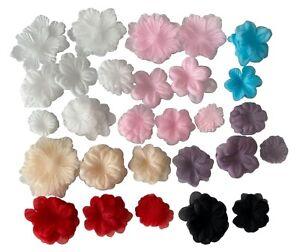 Job lot organza chiffon fabric flower petals bridal floral petals hand craft kit