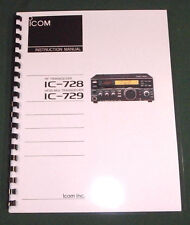 Icom IC-728, IC-729 Instruction manual - Premium Card Stock Covers & 28 LB Paper