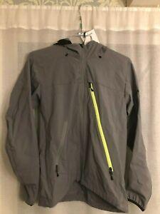 Bontrager Lithos Hooded Softshell Cycling Jacket Medium M Smoke/Volt
