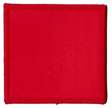 Ecusson brodé patche carré rouge thermocollant déco patch custom