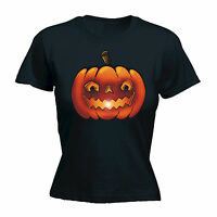 HALLOWEEN COLOUR PUMPKIN WOMENS T-SHIRT dead evil scary funny mothers day gift