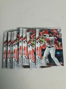 (9)-Randy Arozarena 2020 Topps Series 1 LOIT OF 9 GRADEABLE ROOKIE CARDS RAYS!!!