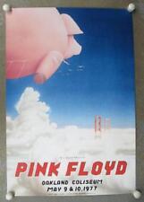 PINK FLOYD OAKLAND 1977 CONCERT POSTER TUTEN 2ND PRINT PIG
