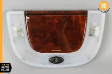 00-06 Mercedes W220 S600 S65 AMG Left or Right Rear Dome Light Mirror Wood Trim