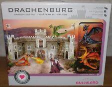 Bullyland Drachenburg mit 2 Drachen grau + orange 83 cm Handbemalt NEU OVP NEW