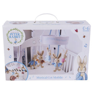 Peter Rabbit Musical Cot Mobile Beatrix Potter from Rainbow Designs 0-6 Months