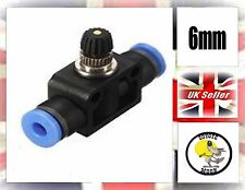 6mm Fitting Pneumatic Speed Flow Control one touch  UK SELLER
