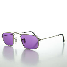 Ben Franklin Square Hippy Sunglass with Colored Lens Purple/Silver - Jazz