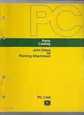 John Deere 60 Planting Attachment Parts Catalog Pc-1344