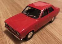 FORD ESCORT MK1 RED 1:43 SCALE MODEL DIECAST CLASSIC CAR CARARAMA FREE POST