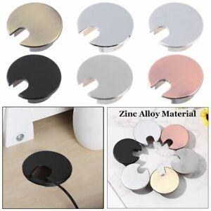 Zinc Alloy Computer Grommet Line Box Wire Hole Cover Desk Table Cable Fastener