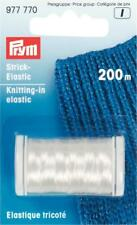 PRYM 977770 Knitting-in elastic length 200m transparent, extra fine 0.2mm