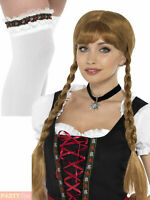 Ladies Bavarian Leg Garter Choker Petticoat Underskirt Fancy Dress Oktoberfest