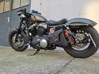 Harley Davidson EOS BLACK Sporty Bobber Seitentasche Satteltasche schwarz Leder