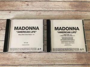 MADONNA  - 2 AMERICAN LIFE cd PROMO PRO USA rare madame x ray of light vogue