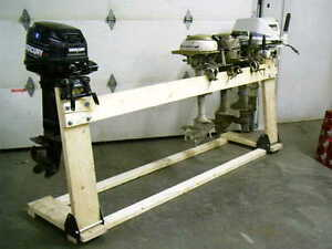 Boss Boat Motor Stand Cart Dolly Bracket Outboard Mount Gas