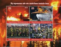 Madagascar 2018 MNH Fire Engines Fighters Brigade 4v M/S Trucks Stamps