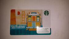 Starbucks Gift Card San Francisco City Cable Car Golden Gate Bridge 2015