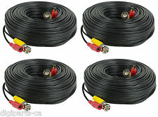 4PCS 4 PACK Coaxial 150ft CCTV Security Camera DVR Video Power Extension Cable