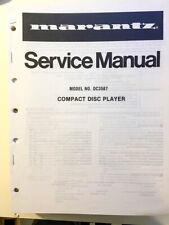 Marantz DC3587 / DC 3587 CD Player Service Manual *Original*
