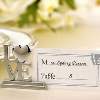 Place Card Holder Table Photo Memo Number Name Clips Base For Wedding JH