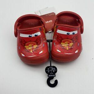 Lightning McQueen Crocs Disney Pixar Cars Toddler Size 4 Red