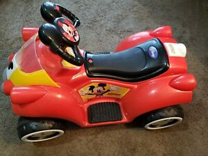 Disney Mickey Mouse Hot Rod Toddler Ride-On Toy by Kid Trax 6V Battery Powered..