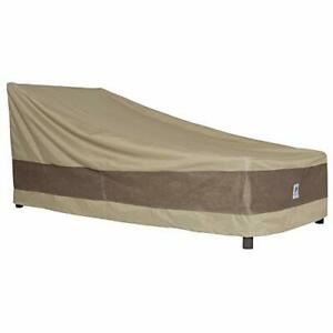 Duck Covers Elegant Waterproof 80 Inch Patio Chaise Lounge Cover