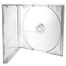 10 CD/DVD Single Clear Jewel Cases with Clear Tray Professional Quality-Brand...