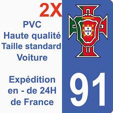 Sticker Autocollant immatriculation Département 91 Portugal Seleção Essonne FPF