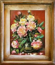 Pfingstrosen - Blumen Pflanzen Bilder Gemälde Ölbilder Ölbild Mit Rahmen G06553