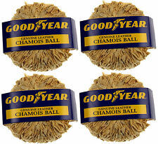 4-Pack: Good Year Super Dry Natural Drying Chamois Ball Window CleaningDefogging